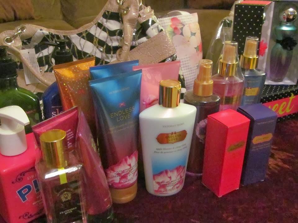 sherlyjeans gifts: lotions, bows, handbags, hats